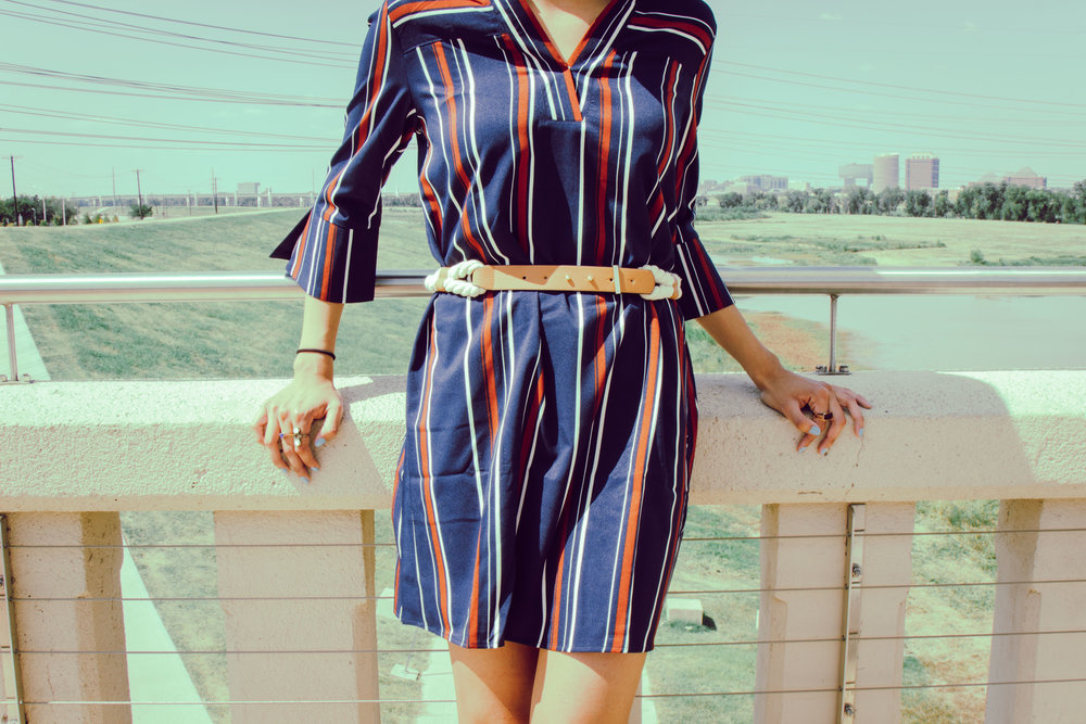 waist belt shirt dress