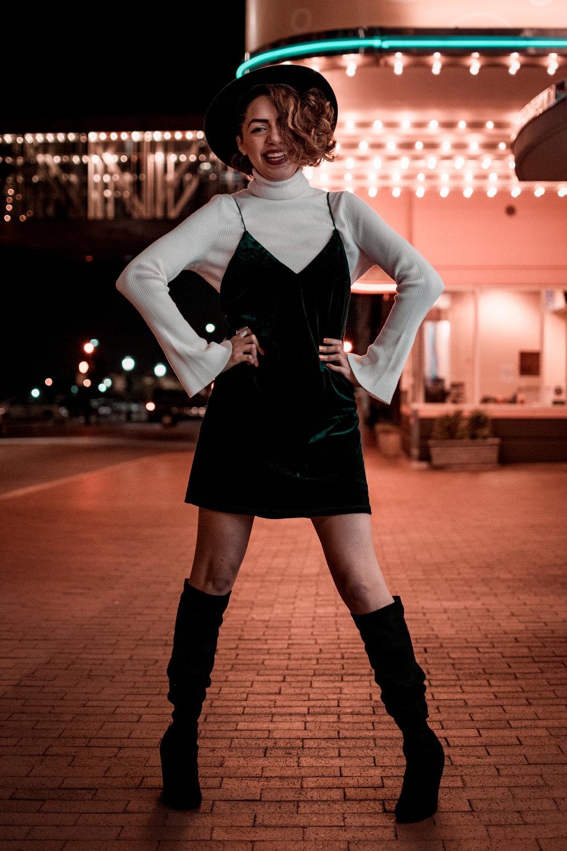 Velvet Dress Holiday Look