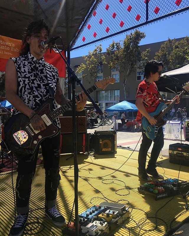 Some action shots from Sunday's performance at @vivacallesj @sofastreetfair festival!  It felt good being back on stage with my brothers. • • • Thank you to all those who showed up to support. We even got to debut our brand new song, Everything I Ever Wanted! Let us know what you think • • • If you haven't yet, check out link in bio to see our brand new music video for our cover of Heroes. • • • 📸 by @nehalabuelata