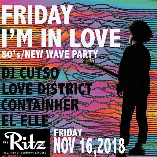 We're making our return to @theritzsj in a couple of weeks for their 80's/New Wave Party! . . . So go get glammed out, put on your dancing shoes and come hangout with us! You might even hear us cover a few classics