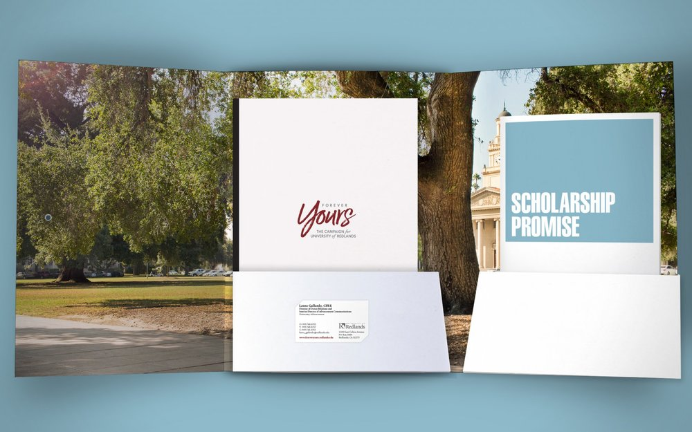 Folder interior and campaign materials