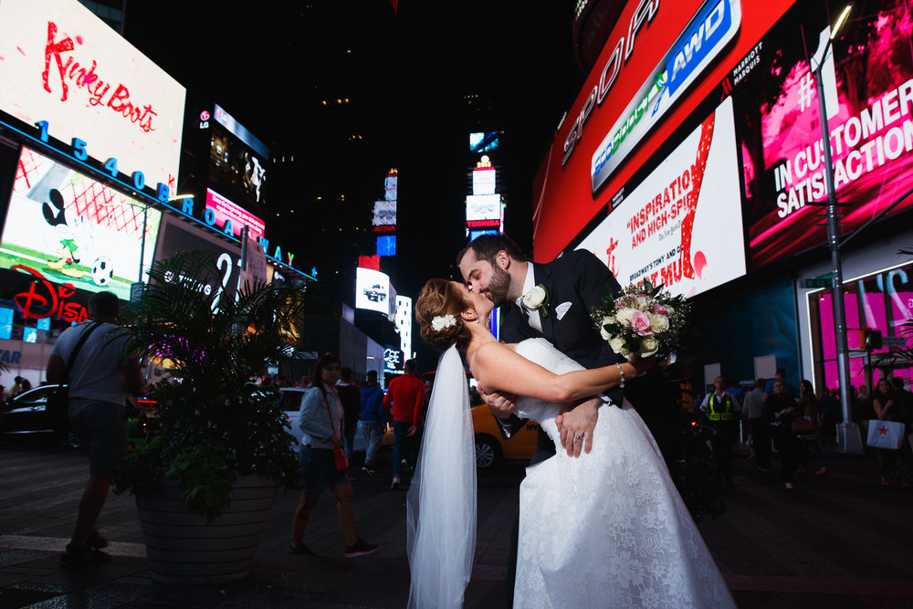 Times Square Wedding, Sarah Bode-Clark Photography, New York City Wedding Photographer