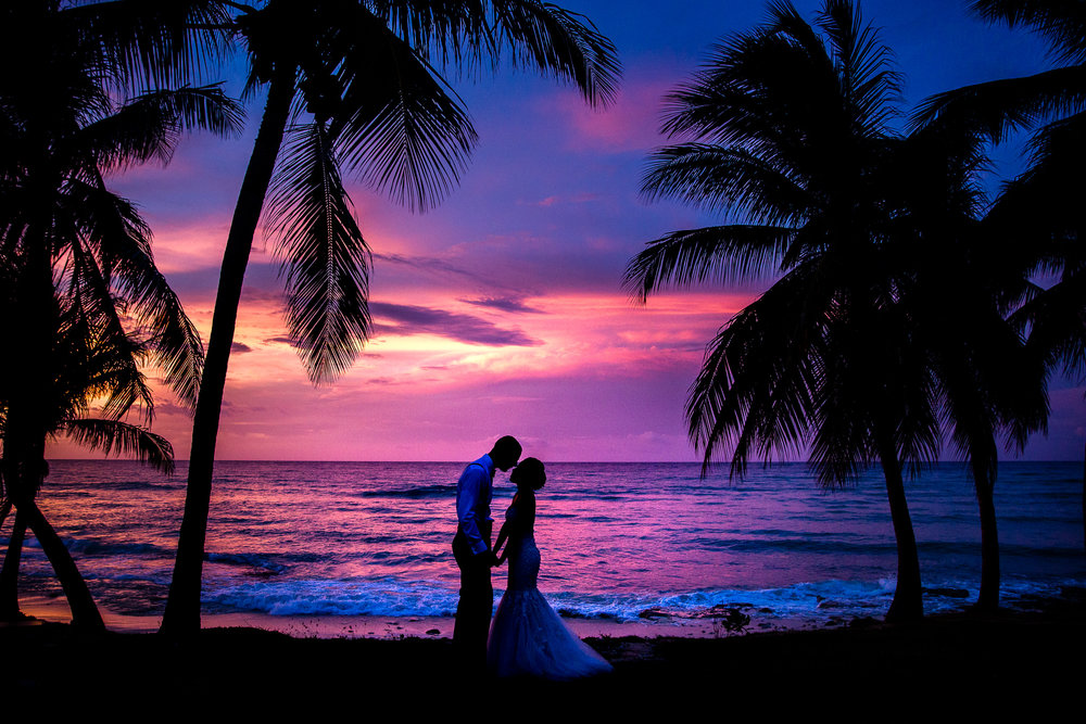jamaica-wedding-sunset-silhouette