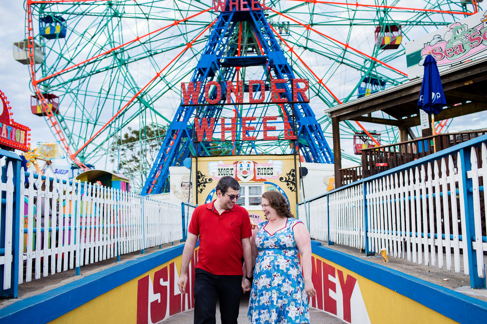 Coney Island Engagement | Sarah Bode-Clark Photography | NYC Engagement Photographer