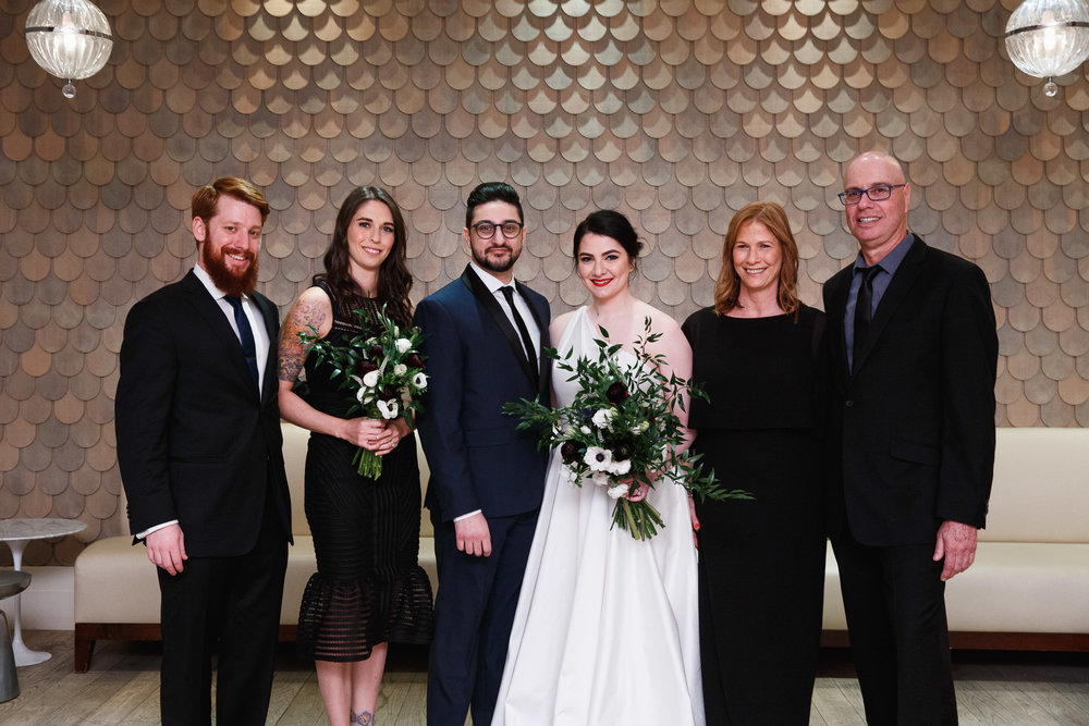 Nomo Soho Hotel Wedding Family Formal Portrait