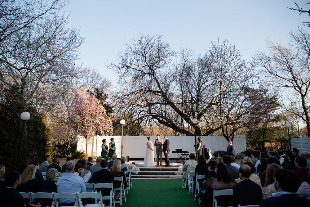 wedding ceremony at terrace on the park queens
