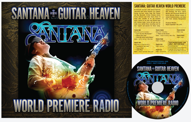 CD Packaging: Santana - World Premiere Radio Release