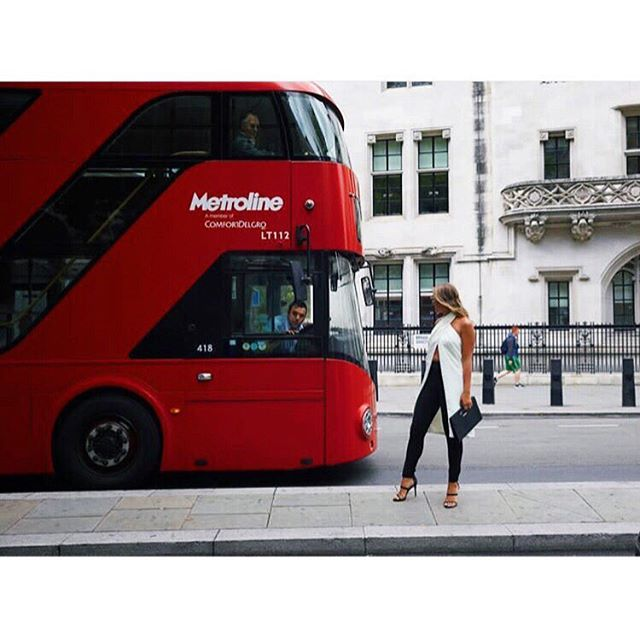 S p o t t e d.  The globetrotting @shesgoing_  sporting our Jackson Top in London.  She looks amazing if I do say so myself!