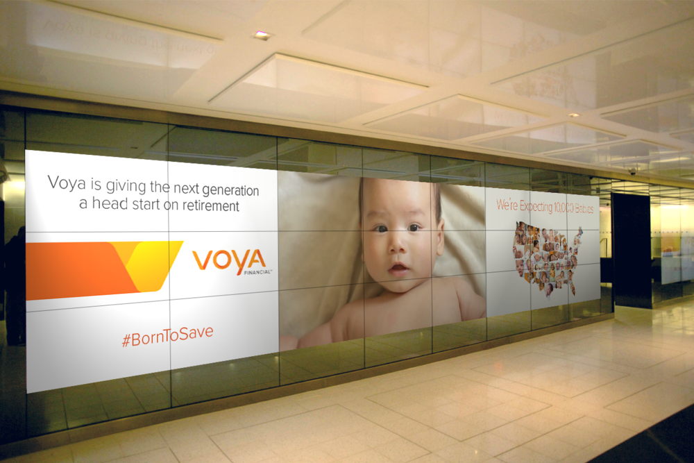 Voya was at the NYSE via the video wall