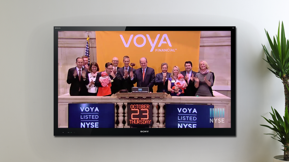 Voya rang the closing bell at the NYSE.