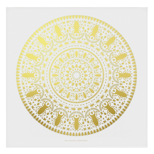 INSECT MANDALA print: gold/ white — The Curious Department | Unique ...