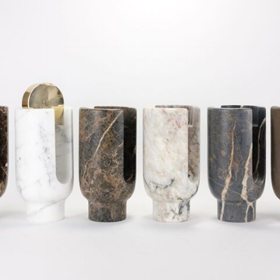 These super gorgeous Lyra marble candle holders from  Ooumm  come in a few different sizes (to suit budgets!) and also the fragrant candles come in these super sleek capsules, so you can swap them out and replace them when the time comes (although if you're like us, we're always too precious to actually light our candles. SHAME)