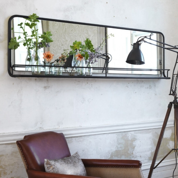 Well, 2017 might just be the year we finally embrace the Gallery Wall... got some many bits and pieces that need hanging and displaying but our total ineptitude in hanging anything is severely getting in the way. Perhaps this mirrored shelf will be the perfect introduction? Although...