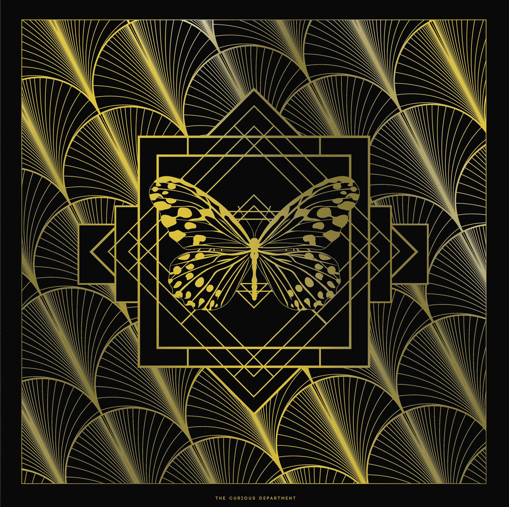 Swoon Worthy Butterfly- limited edition gold foil print, available framed or print-only from £40