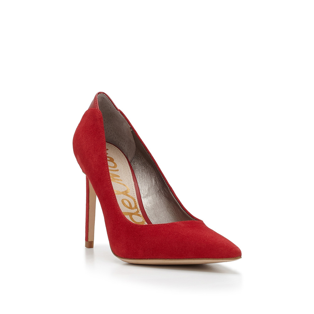 Sam Edelman red high heel product photography