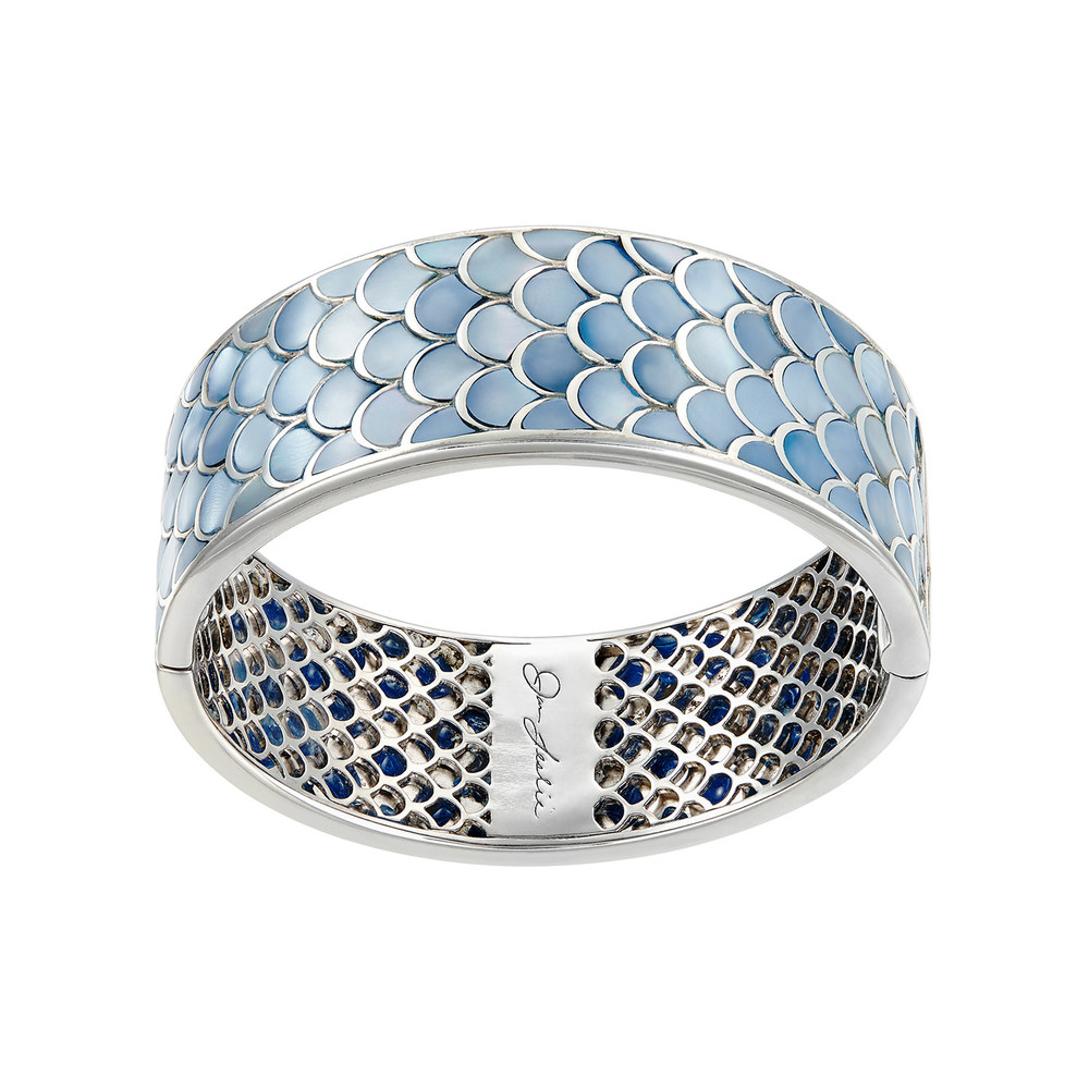 Jan Leslie blue fish scale bracelet