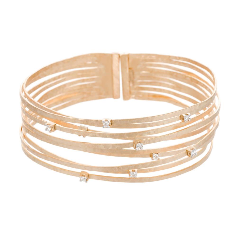 Gold and gemstone bracelet