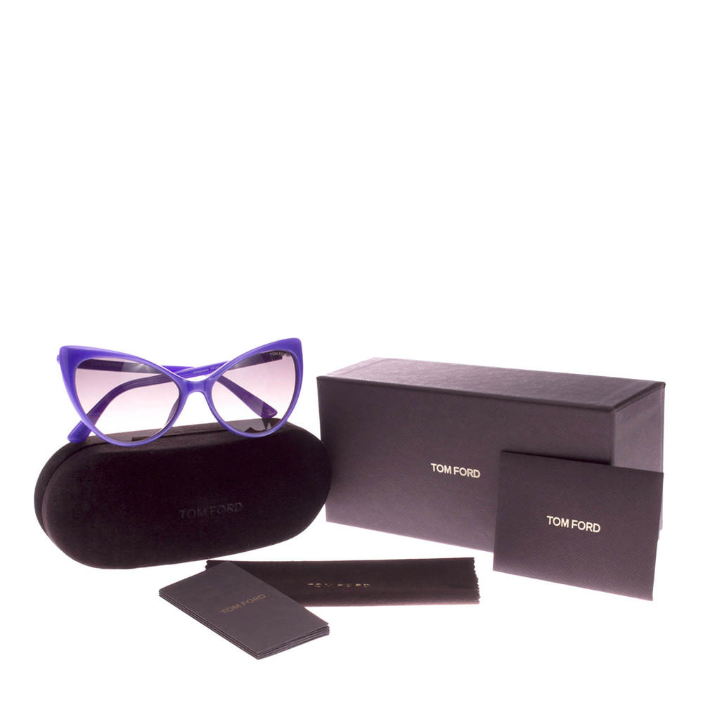 Purple Tom Ford sunglasses