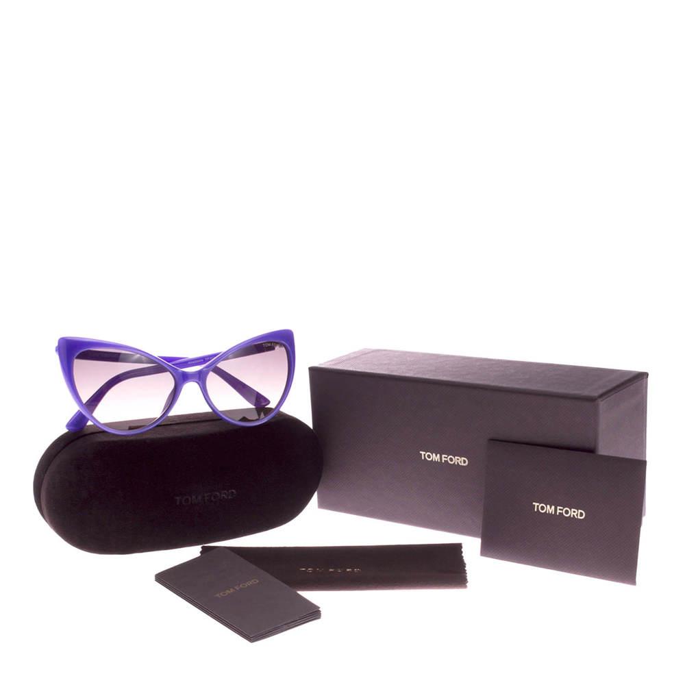 Purple Tom Ford sunglasses