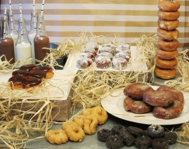 We offer Donut Buffets too - a BIG hit!