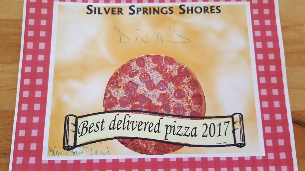 Silver Spring Shores Voted us the Best Delivered Pizza!