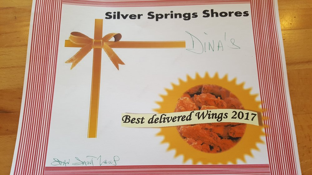 Silver Spring Shores Voted us the Best Delivered Wings!