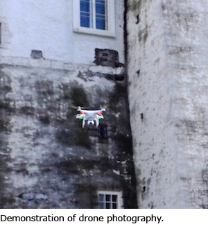 Demonstration of drone photography
