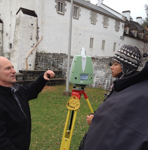 Demonstration of a Leica laser scanner at the Redoubt Dauphine Artillery Park Heritage Site