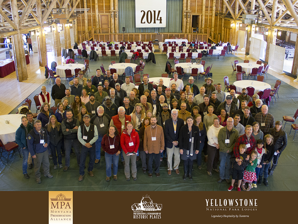 Photo 6: Attendees of the 2014 conference. Photo property of Montana Preservation Alliance.
