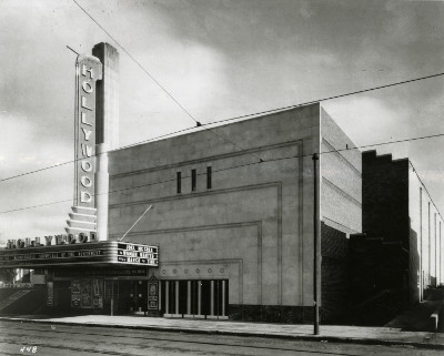 1935 photograph of the Hollywood Theater as it appeared following its construction. Photo source: Northwestern Architectural Archives.
