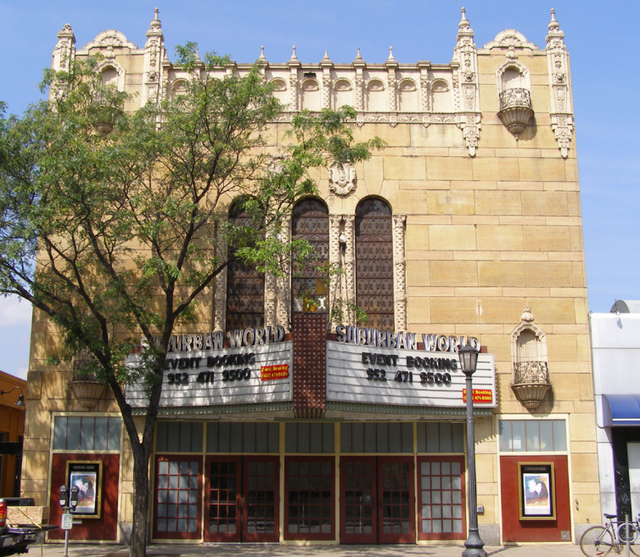 The Granada Theater (1928) in Uptown Minneapolis was later renamed the Suburban World.