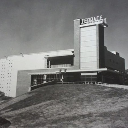 The Terrace Theater (1951) in Robbinsdale, MN was the last indoor theater designed by L&K. Photo source: placeography.org