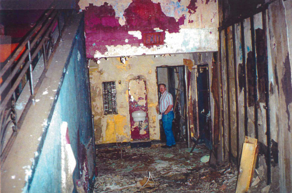 The condition of the theater's interior was looking dire in 1999. Source: HGA Engineering Report, CPED Files.