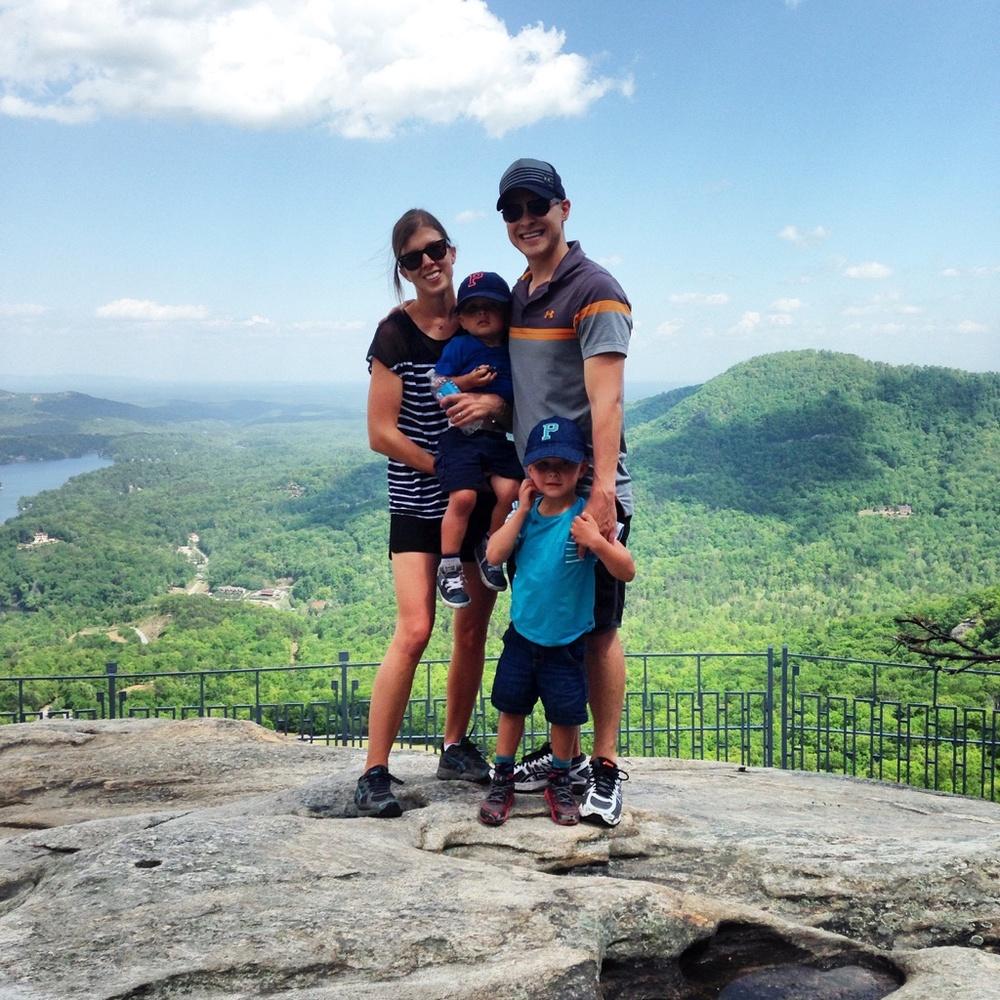 Visiting Chimney Rock State Park near Asheville, NC