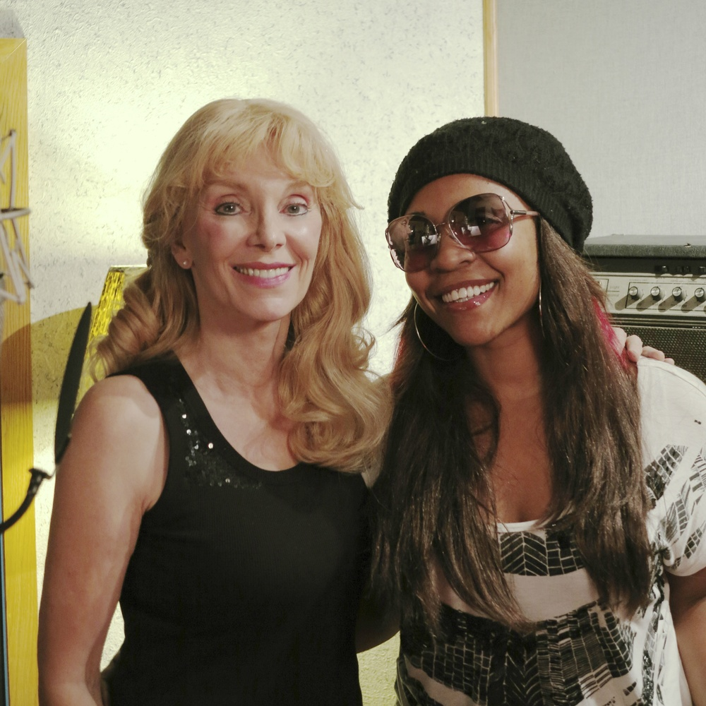 "2013 with Divine Brown, during recording sessions for ""The Return…"""