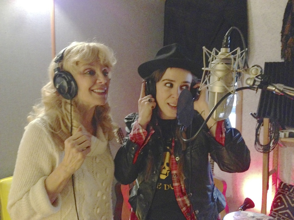 "2013 with Serena Ryder, during recording sessions for ""The Return…"""