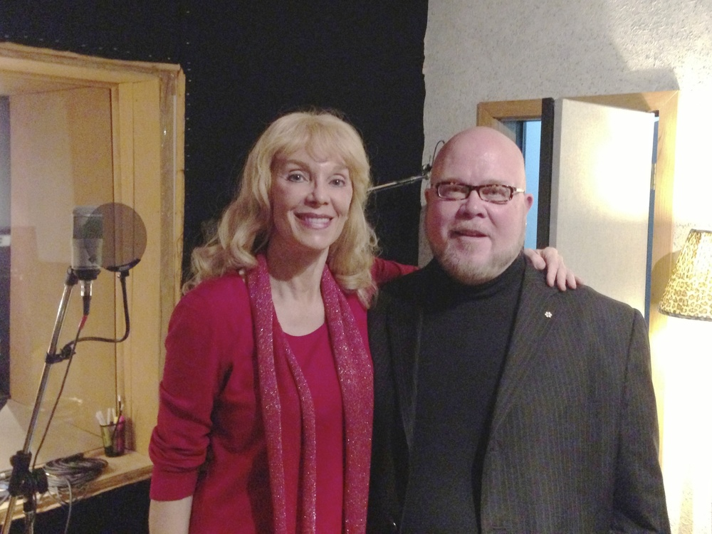 "2013 with tenor Richard Margison, during recording sessions for ""The Return…"""