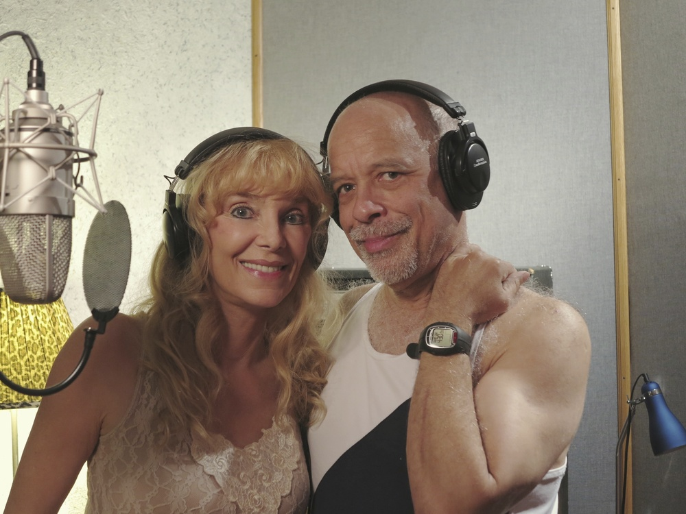"2013 with Dan Hill, during recording sessions for ""The Return…"""