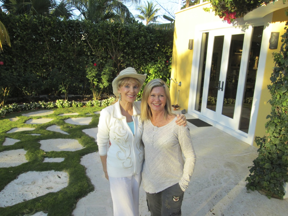 2013 with Olivia Newton-John at her home in Jupiter, Florida