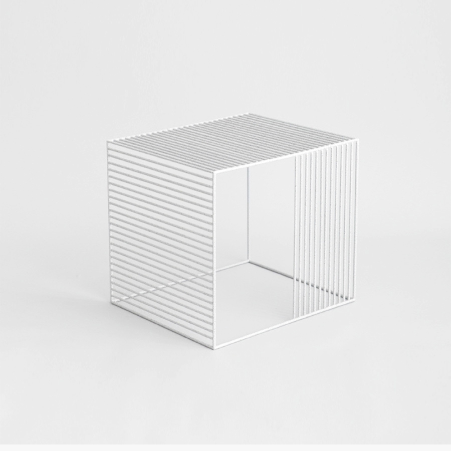 Wire Side Table  by Iacoli & McAllister