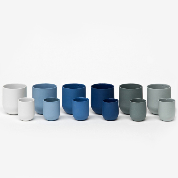 Porcelain Cups  by De Intuitiefabriek