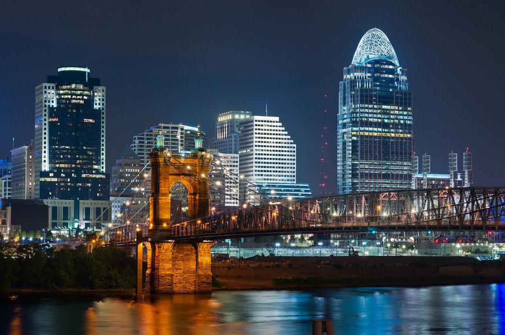"""Cincinnati Downtown"" from google image."