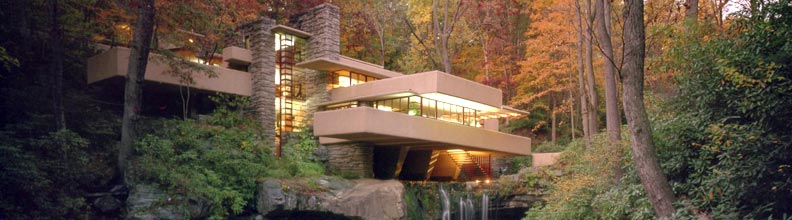 Fallingwater House by Frank Lloyd Wright     5-6 hours from Cincinnati   Fayette County, Pennsylvania  Adult: $30, Youth: $18  10am-4pm Thursday-Tuesday  (Closed Wednesday)   America's most famous architect, Frank Lloyd Wright, designed Fallingwater for his clients, the Kaufmann family. It instantly became famous, and today it is a National Historic Landmark. The Western Pennsylvania Conservancy is entrusted to preserve Fallingwater for generations to come.
