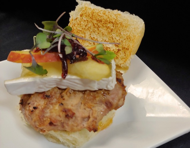 Chef Kel's  apple, berry and brie turkey burger