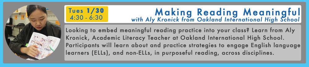 RSVP Here for Making Reading Meaningful