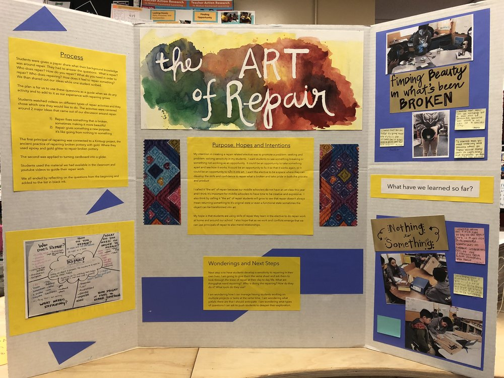 Sopar's documentation board from the Agency  by  Design Oakland mini-culminating event in December, 2018.