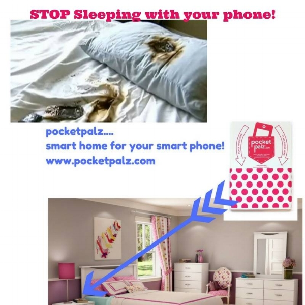 Pocket Palz on your Nightstand or Headboard is the safe place to keep your phone!