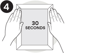 Press Pocket Palz firmly against the wall for 30 seconds. Enjoy!