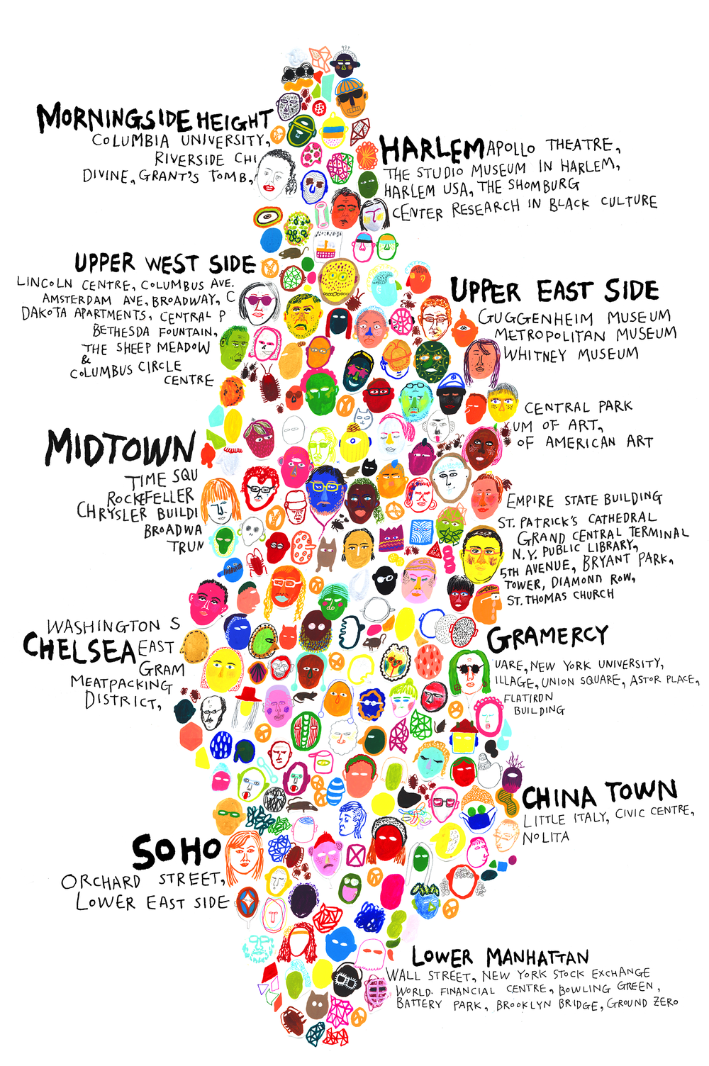 MANHATTAN MAP HYESU LEE