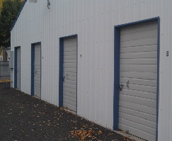 A photo of four lockers at the Lewiston storage facility.